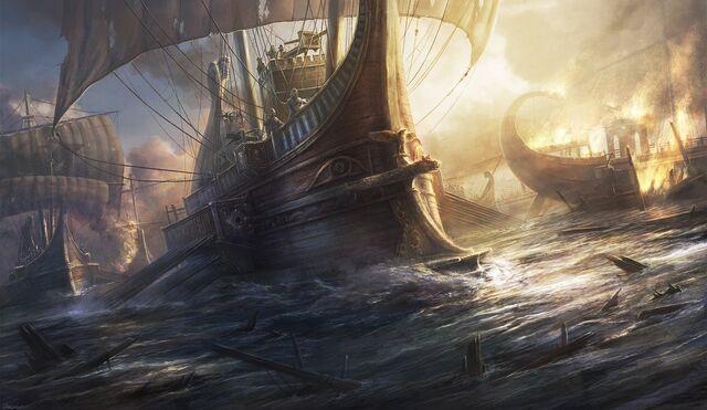 File:Roman warship by radojavor-d55uf49.jpg