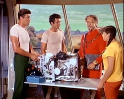 John, don, sesmar and penny in the jupiter 2