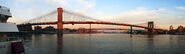 Panorama -- Brooklyn, Manhattan and Williamsburg Bridges