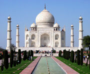 Taj Mahal in March 2004