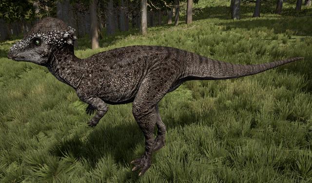 File:Rubble Pachycephalosaurus The Isle.png