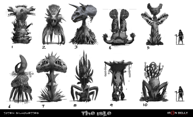 File:Totem Silhouettes Concept Art The Isle.png