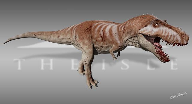 File:The Stomping Land Tyrannosaurus Blood Thirster Skin The Isle.jpg