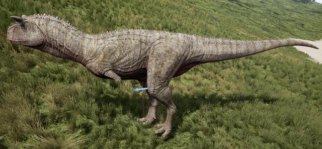 File:Albino Carnotaurus The Isle.png