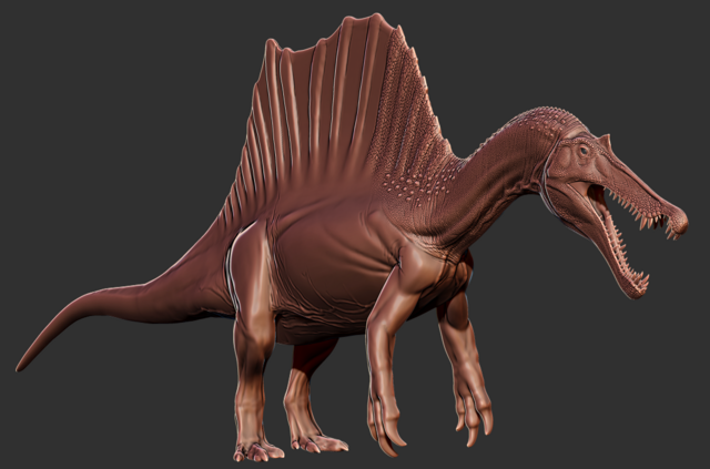 File:Quadrupedal Spinosaurus Model Art The Isle.png