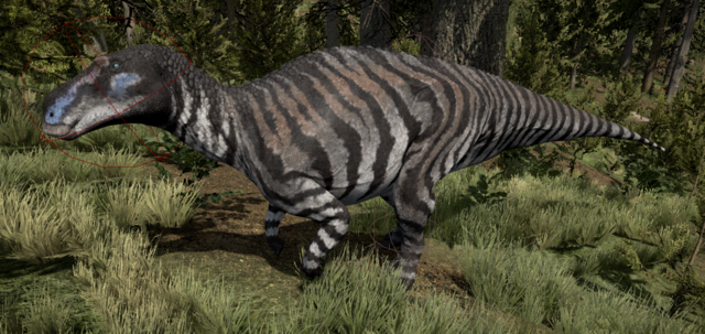 File:Striped Maiasaura The Isle.png