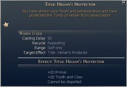 Title Helians Protector
