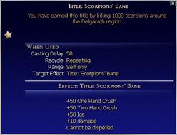 Title Scorpions Bane