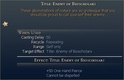 Enemy of bioscholars