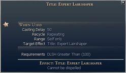 Title Expert Lairshaper