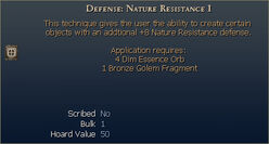 Defense Nature Resistance I