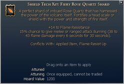 Fiery Rose Quartz Shard