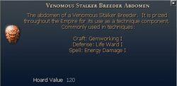 Venomous Stalker Breeder Abdomen