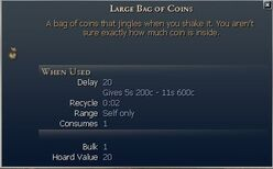 Large Bag of Coins