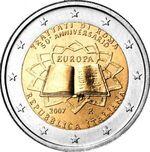 2€ commemorativo Trattati di Roma 2007