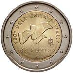 2€ commemorativo 2011 150° Unità d'Italia