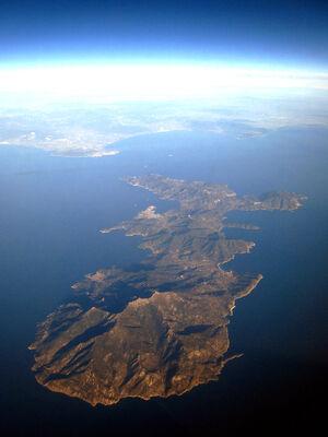 Vista aerea Isola d'Elba