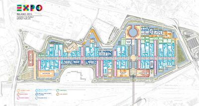 Mappa sito espositivo Expo 2015