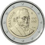 2 euro commemorativo Cavour 2010