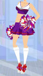 Spooky Cheery Purple Cheerleader