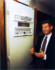 200px-Leonard-Kleinrock-and-IMP1