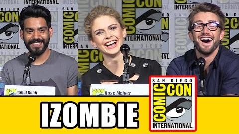 IZombie Comic Con Panel - Season 2, Rose McIver, David Anders, Rahul Kohli, Robert Buckley-0