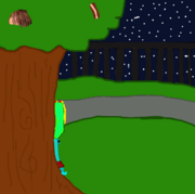 Razz Sitting under a tree