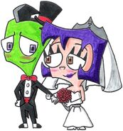 Zim and gaz s wedded bliss by nintendomaximus-d6rl4d1