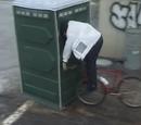 Mountain Bike Into Porta Potty