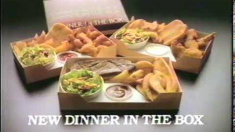 1983 Jack in the Box Dinner in the Box Ad