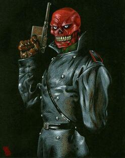 Captain america red skull comic image 01