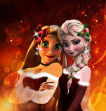 Elsa and rapunzel by x12rapunzelx-d6vecas