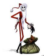 Jack Skellington (Santa Outfit)
