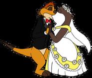 Timon and marlene wedding kiss by lionkingrulez-d535b6q