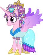 Princess cadence with ceremonial headdress by hampshireukbrony-d5ug8v1