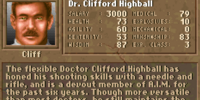 "Dr. Clifford ""Cliff"" Highball"