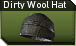 Dirty wool hat j icon