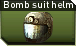 Bomb suit helmet j icon