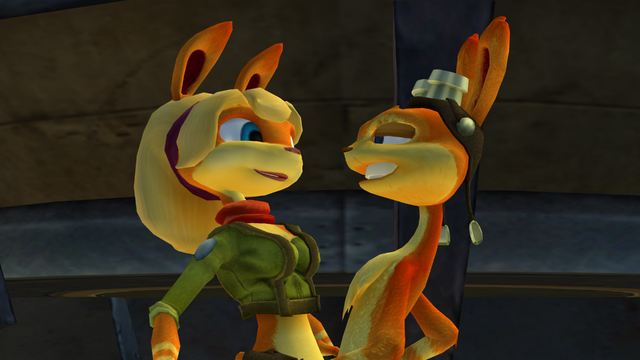 File:Daxter and Tess about to kiss.png