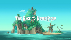 The Race to Never Peak! titlecard