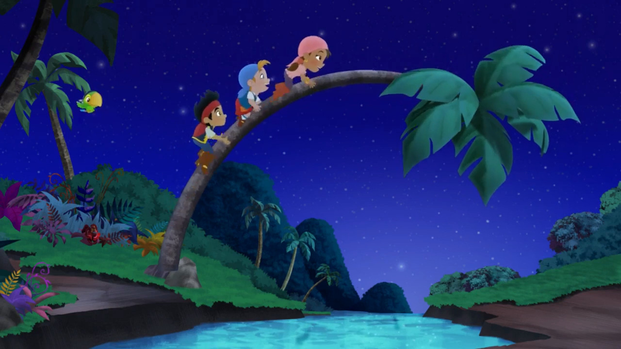 File:Cubby and the crew climbing across a plam tree.JPG