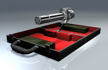 Briefcase turret, FRWL game