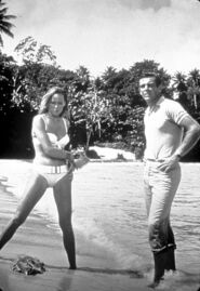 Andress connery on set of dr. no