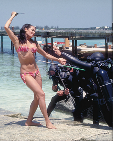 Promotional photo of Martine Beswick in Thunderball (1965)