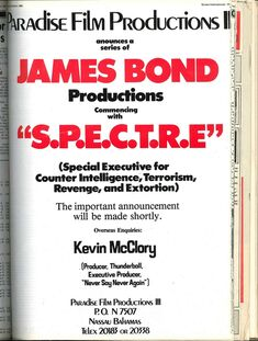 McClory 1984 Screen International Advert