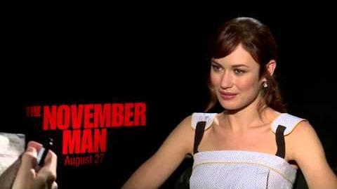 Olga Kurylenko on 'The November Man' and playing opposite two James Bonds