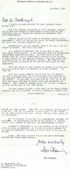 Fleming Letter To Boothroyd