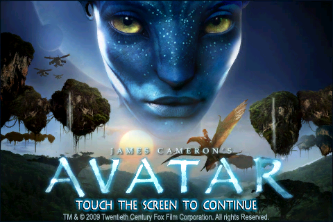 File:AVATAR iPhone game main screen.png