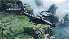 Samson landing at halelulja mountains