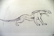 Art of Avatar Thanator Sketch
